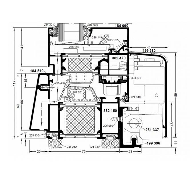 aluminium fenster sch co aws 75 si triseko gmbh. Black Bedroom Furniture Sets. Home Design Ideas